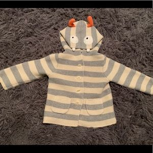 Baby Gap striped knit button up cardigan